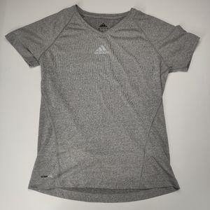 Adidas Climalite Short Sleeve Shirt Gray Medium